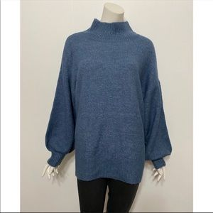 Vince Camuto Mutton Sleeve Mock Neck Sweater
